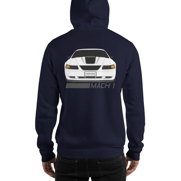 Oxford White Mach 1 Hooded Sweatshirt