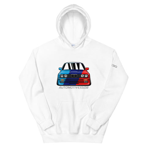 E30 Front Multicolor Hoodie E30 Front Multicolor Hoodie - Automotive Army Automotive Army