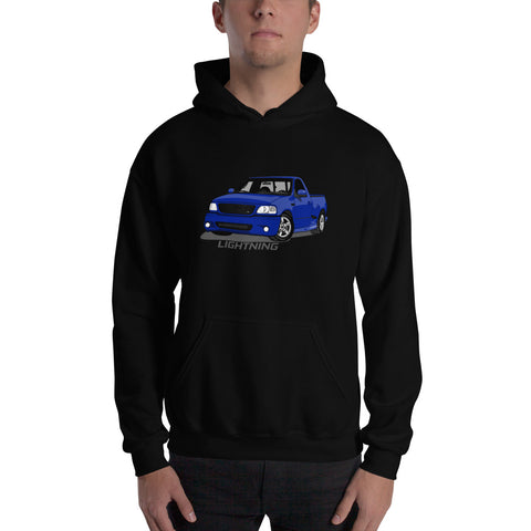 Sonic Blue Lightning Hooded Sweatshirt