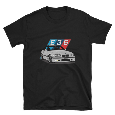 Silver E36 Unisex T-Shirt Silver E36 Unisex T-Shirt - Automotive Army Automotive Army