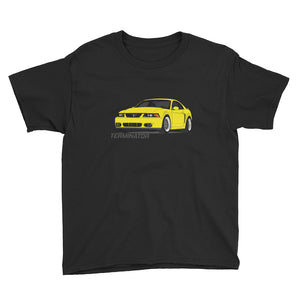 Youth Zinc/Screaming Yellow Cobra Short Sleeve T-Shirt