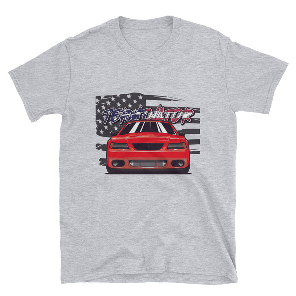 Torch Red American Terminator Unisex T-Shirt