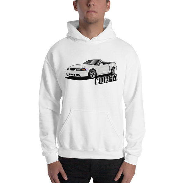 Oxford White Cobra Hooded Sweatshirt