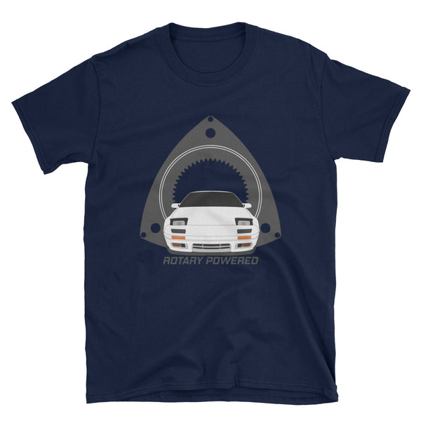 White FC Rotary Powered Unisex T-Shirt White FC Rotary Powered Unisex T-Shirt - Automotive Army Automotive Army