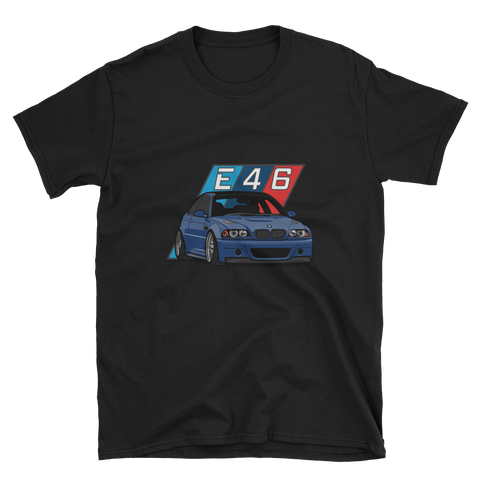 Interlagos/Mystic Blue E46 Unisex T-Shirt Interlagos/Mystic Blue E46 Unisex T-Shirt - Automotive Army Automotive Army