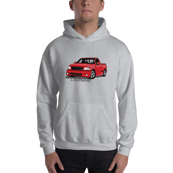 Red Lightning Hooded Sweatshirt Red Lightning Hooded Sweatshirt - Automotive Army Automotive Army