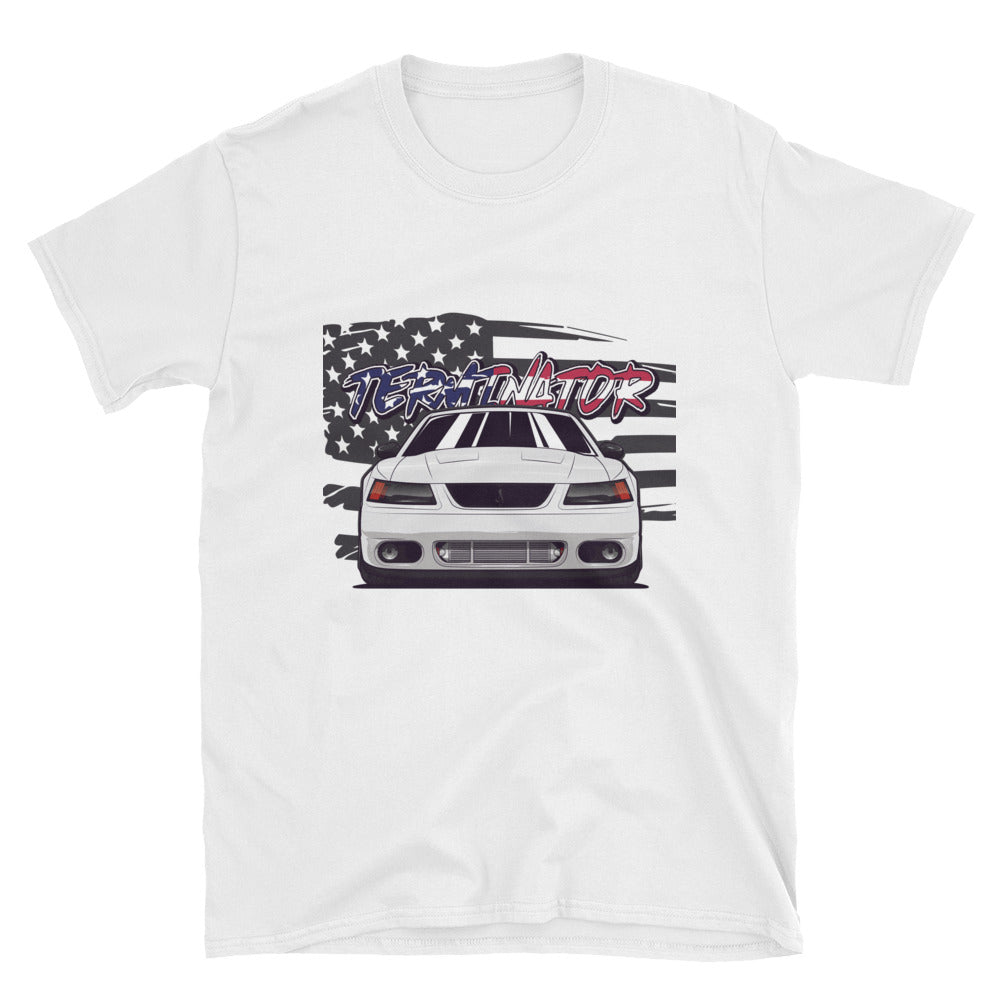 Oxford White American Terminator Unisex T-Shirt Oxford White American Terminator Unisex T-Shirt - Automotive Army Automotive Army