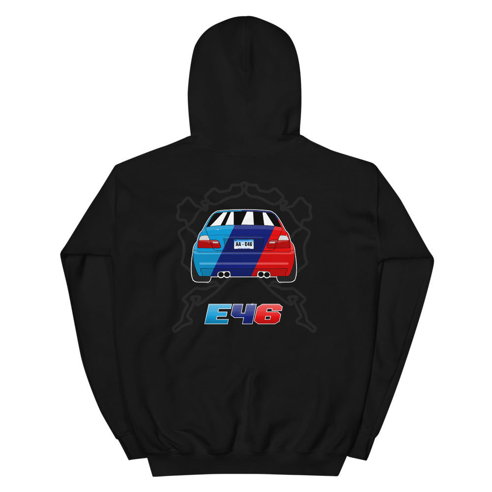 E46 Multicolor Hoodie E46 Multicolor Hoodie - Automotive Army Automotive Army