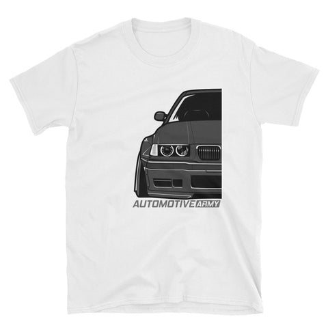 Black E36 Widebody Unisex T-Shirt Black E36 Widebody Unisex T-Shirt - Automotive Army Automotive Army