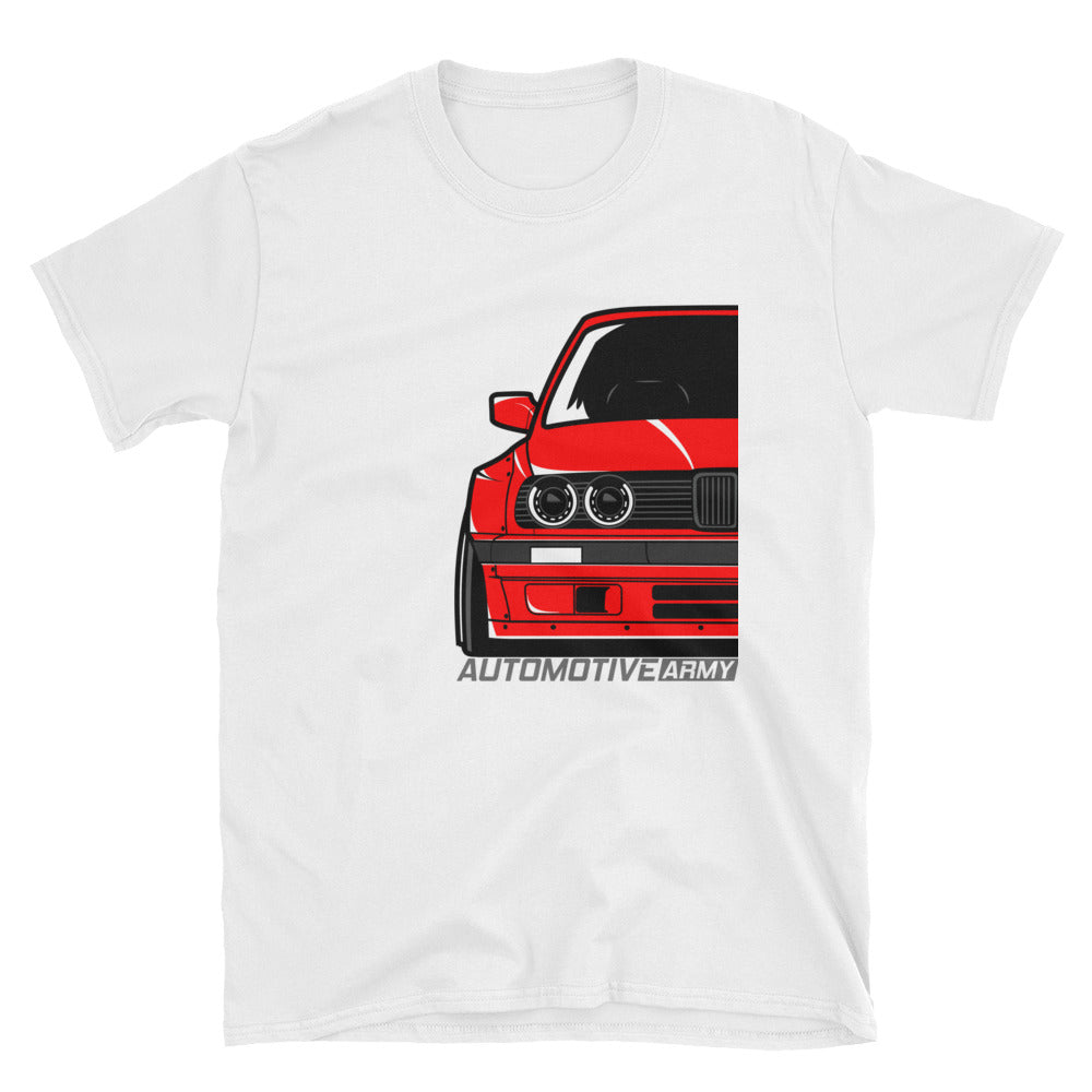 Red E30 Widebody Unisex T-Shirt Red E30 Widebody Unisex T-Shirt - Automotive Army Automotive Army