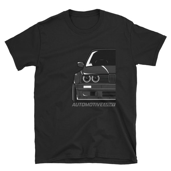 Black E30 Widebody Unisex T-Shirt Black E30 Widebody Unisex T-Shirt - Automotive Army Automotive Army