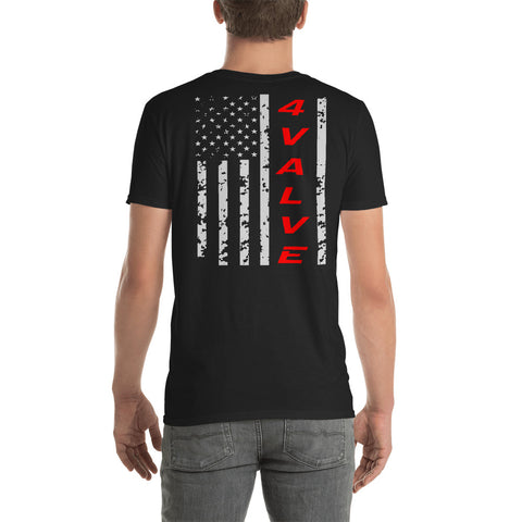 4 Valve Flag Unisex T-Shirt 4 Valve Flag Unisex T-Shirt - Automotive Army Automotive Army
