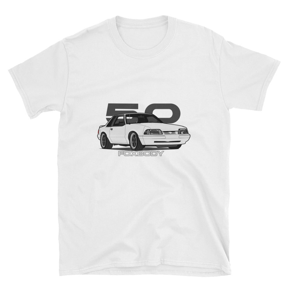 White Notchback Unisex T-Shirt