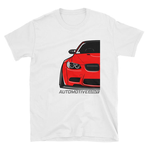 Red E92 Widebody Unisex T-Shirt Red E92 Widebody Unisex T-Shirt - Automotive Army Automotive Army