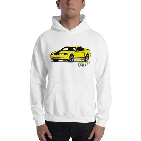 Zinc/Screaming Yellow Mach 1 Hooded Sweatshirt