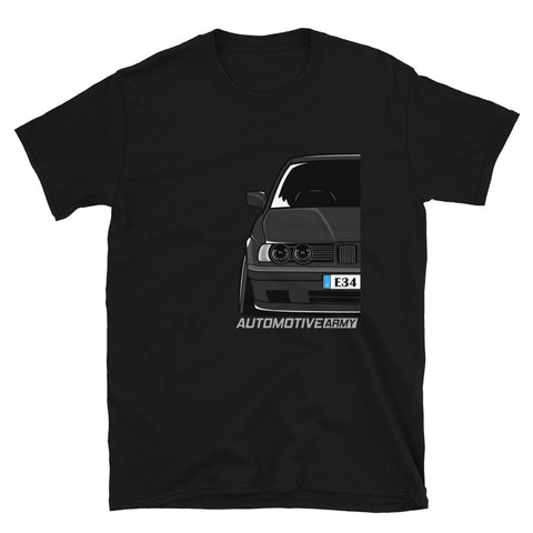 Black Slammed E34 Unisex T-Shirt Black Slammed E34 Unisex T-Shirt - Automotive Army Automotive Army