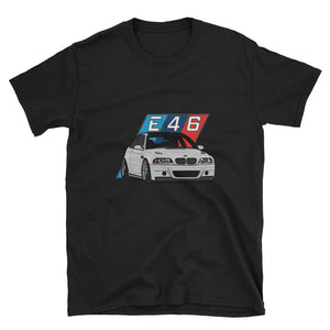 Silver E46 Unisex T-Shirt Silver E46 Unisex T-Shirt - Automotive Army Automotive Army