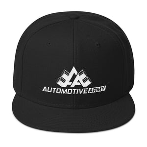 Automotive Army Snapback Hat