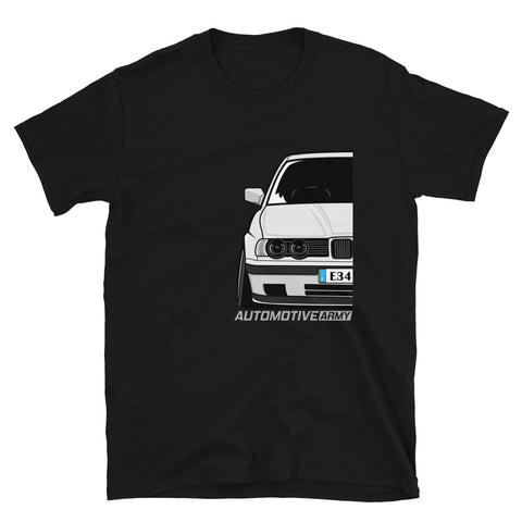 White Slammed E34 Unisex T-Shirt White Slammed E34 Unisex T-Shirt - Automotive Army Automotive Army