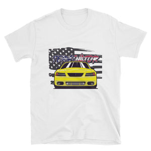 Yellow American Terminator Unisex T-Shirt Yellow American Terminator Unisex T-Shirt - Automotive Army Automotive Army