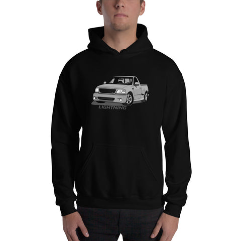 Silver Lightning Hooded Sweatshirt