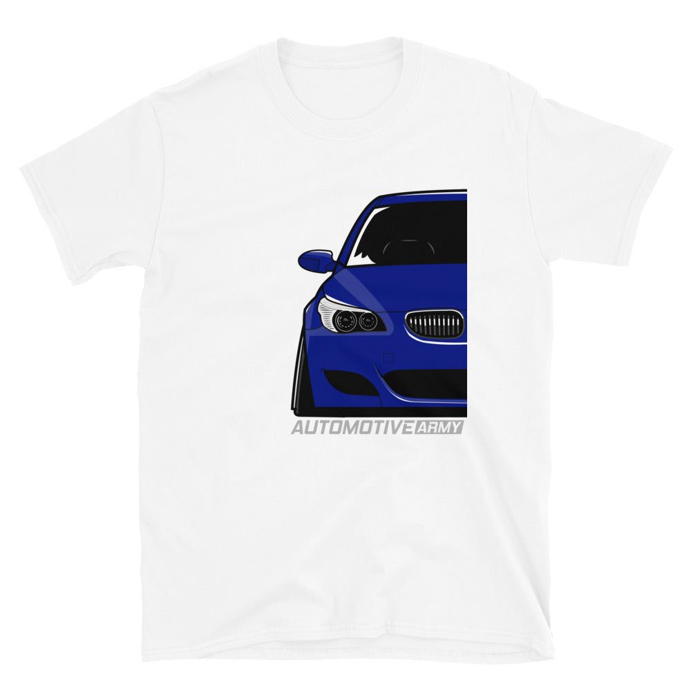 Blue Slammed E60 Unisex T-Shirt Blue Slammed E60 Unisex T-Shirt - Automotive Army Automotive Army