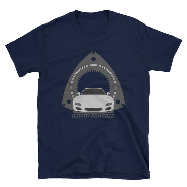 Silver FD Rotary Powered Unisex T-Shirt Silver FD Rotary Powered Unisex T-Shirt - Automotive Army Automotive Army