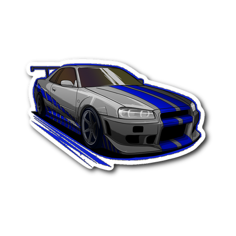 Brian's Skyline Die Cut Sticker