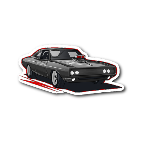Dom's Charger Die Cut Sticker