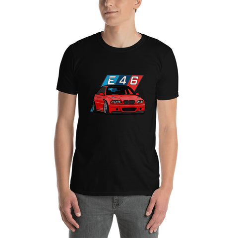 Red E46 Unisex T-Shirt Red E46 Unisex T-Shirt - Automotive Army Automotive Army