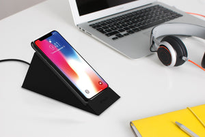 Wireless standing desk charger for iPhone 11 and other models