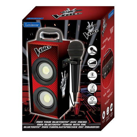 Bluetooth Speaker with Karaoke Microphone La Voz Lights Black/Red 4W (Refurbished B)