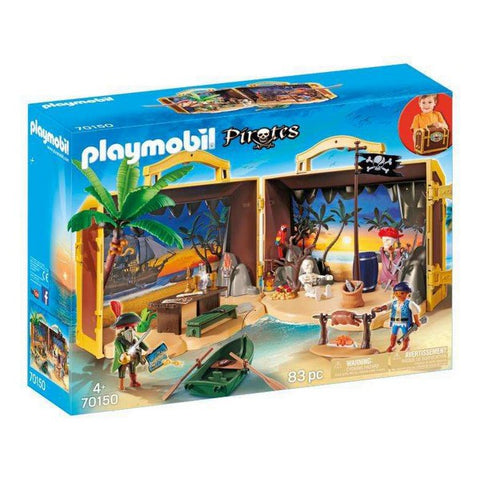 Playset Pirate Island Playmobil (83 pcs)