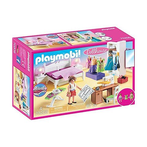 Playset Dollhouse Bedroom Playmobil 70208 (67 pcs)