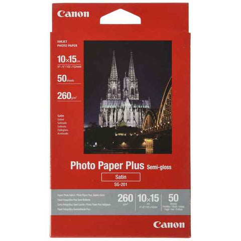 Satin Photo Paper Canon SG-201 10 x 15 cm 50 Sheets