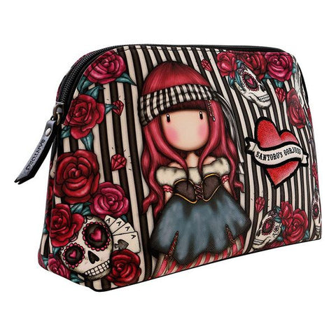 School Toilet Bag Gorjuss Mary Rose Black Maroon