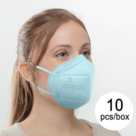 Protective Respirator Mask FFP2 NR YW GZ001-002-003 Blue (Pack of 10)