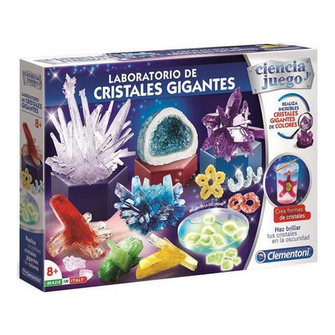Science Game Laboratorio de Cristales Gigantes Clementoni (7 x 45 x 31 cm)