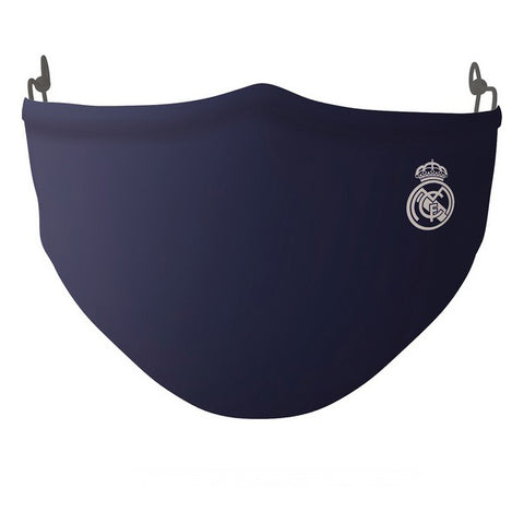 Hygienic Reusable Fabric Mask Real Madrid C.F. Adult Blue