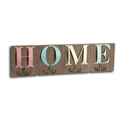 Wall mounted coat hanger Home (3 x 16 x 60 cm)