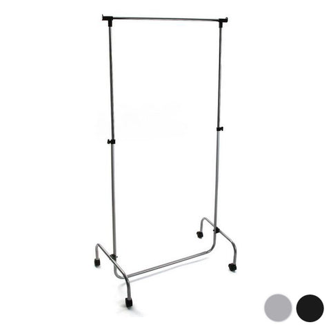 Extendable Coat Rack Silver (45 x 170 x 80 cm)