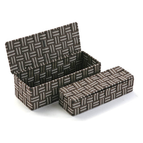 Set of Stackable Organising Boxes Textile (2 Pieces) (11,5 x 9 x 29,5 cm)