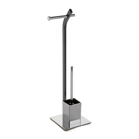 Toilet Paper Holder with Brush Stand Metal (20 x 74 x 20 cm)