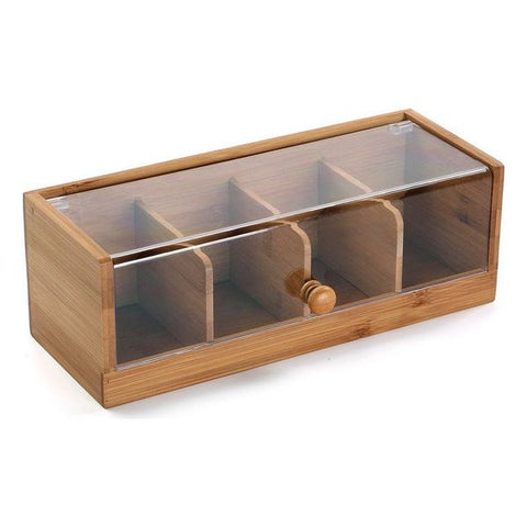 Box with compartments Wood (13 x 10 x 28,8 cm)