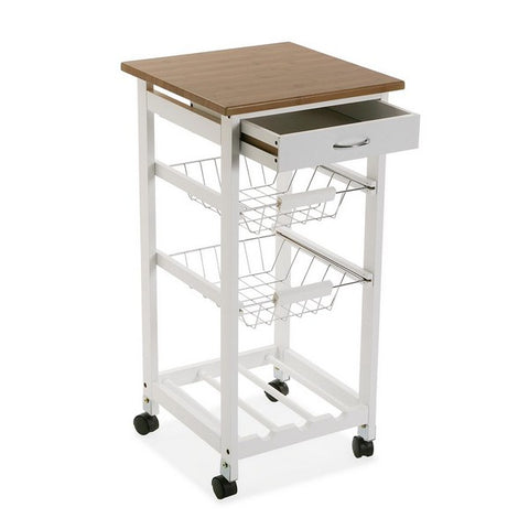 Kitchen Trolley MDF Wood (37 x 76 x 37 cm)