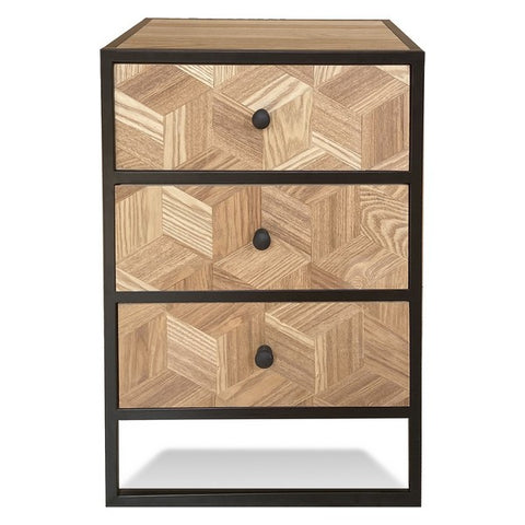 Chest of drawers Emma Metal MDF Wood (30 x 58 x 40 cm)