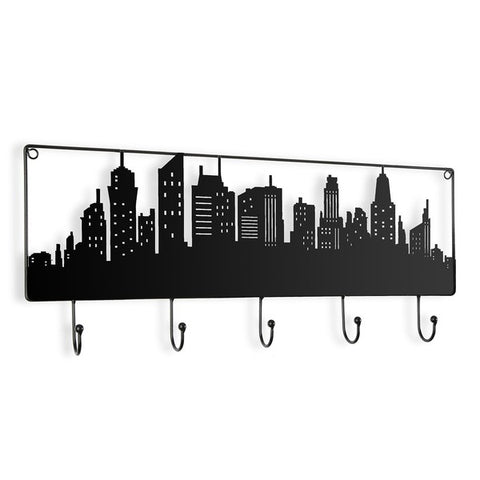Wall mounted coat hanger Metal (5 x 23,5 x 56,5 cm)