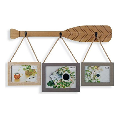 Photo frame Paddle Multiple Rope MDF Wood (35 x 55 cm)