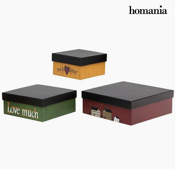 Decorative box Homania 2649 (3 pcs) Squared