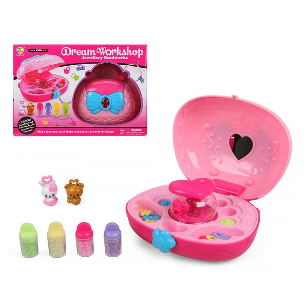 Bracelet Making Kit Dream Workshop Pink (200 Pcs)